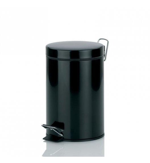 KELA Kosz na śmieci otwierany pedałem KALI czarny 3,0 l / FreeForm