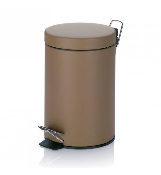 KELA Kosz na śmieci otwierany pedałem SAVANNE brązowy 3,0 l / FreeForm