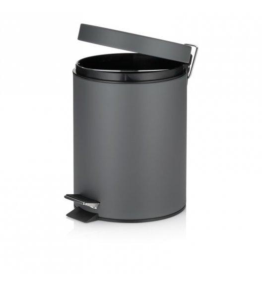 KELA Kosz na śmieci otwierany pedałem STEN ciemnoszary, matowy 5,0 l / FreeForm