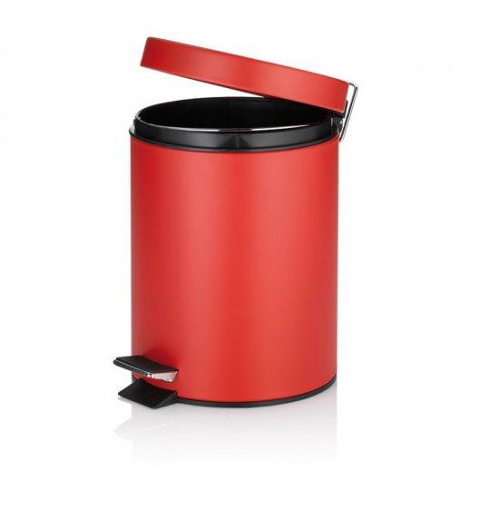 KELA Kosz na śmieci otwierany pedałem CLEO czerwony, matowy 5,0 l / FreeForm
