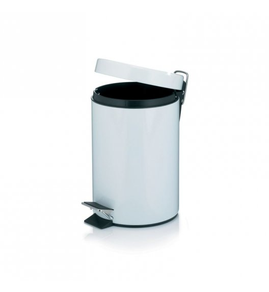 KELA Kosz na śmieci otwierany pedałem ALPINE biały 3,0 l / FreeForm