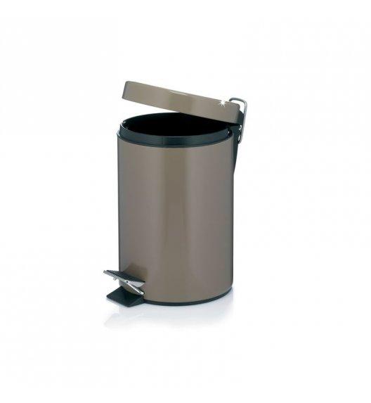 KELA Kosz na śmieci otwierany pedałem TAUPE szarobrązowy 3,0 l / FreeForm