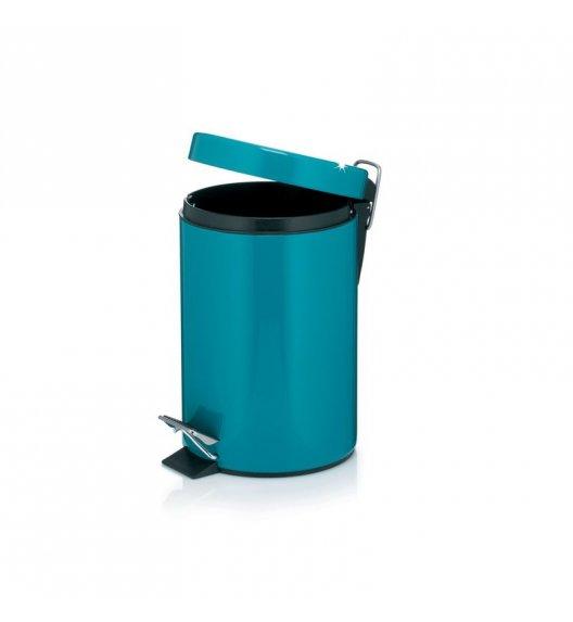 KELA Kosz na śmieci otwierany pedałem PETROL ciemny turkus 3,0 l / FreeForm