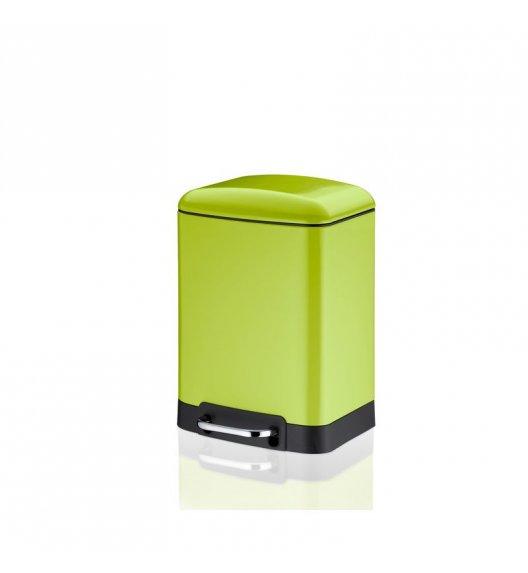 KELA Kosz na śmieci otwierany pedałem DAVINO zielony 6,0 l / FreeForm