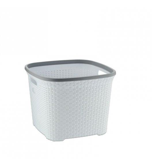 KELA Kosz / miska z tworzywa sztucznego na pranie RIO biała, wysoka / FreeForm