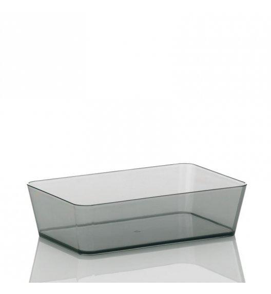 KELA Przeźroczysty organizer łazienkowy KRISTALL ciemny 22 x 14 x 6 cm / FreeForm