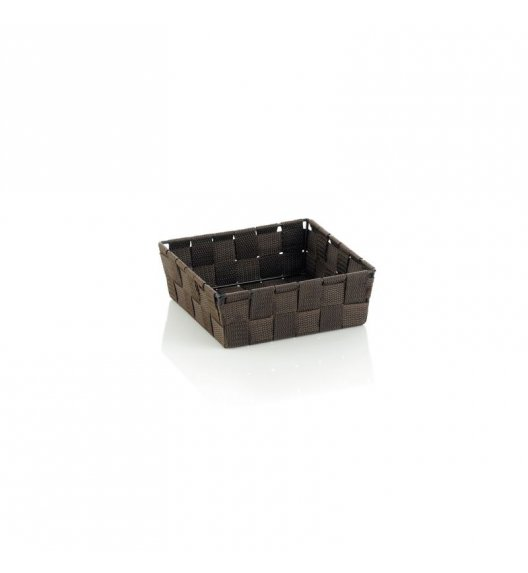 KELA Koszyk łazienkowy ALVARO brązowy 19 x 19 x 6 cm / FreeForm