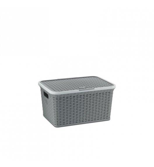 KELA Kosz na akcesoria łazienkowe RIO szary 30 × 41 × 21,5 cm / FreeForm