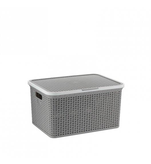 KELA Kosz na akcesoria łazienkowe RIO 34,5 × 48 × 24,5 cm szary / FreeForm
