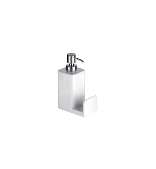 WYPRZEDAŻ! TESCOMA ON LINE Pojemnik na mydło lub płyn do naczyń z dozownikiem 350 ml / biały MIEJSCE NA GĄBKĘ