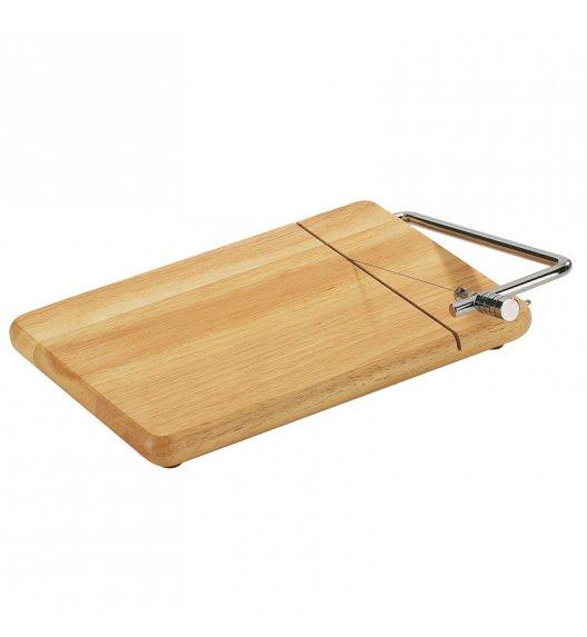 ZASSENHAUS Deska z wbudowanym nożem do sera 25 x 18 cm / drewno kauczukowe