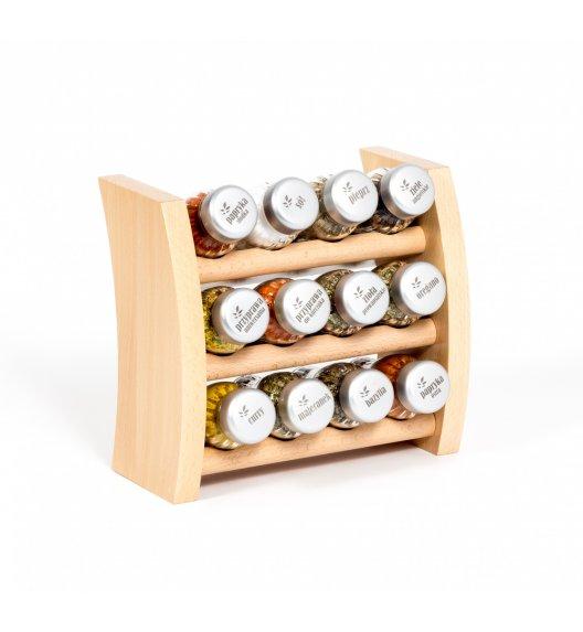 GALD Półka drewniana z 12 przyprawami / PÓŁKA 12NS - N MAT
