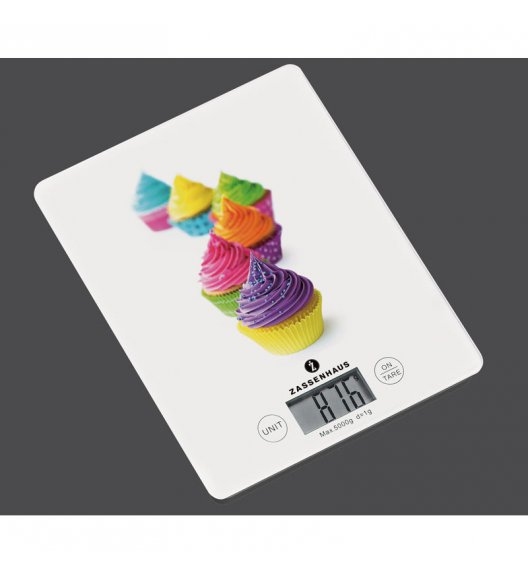 ZASSENHAUS Cyfrowa waga kuchenna BALANCE cupcake / FreeForm