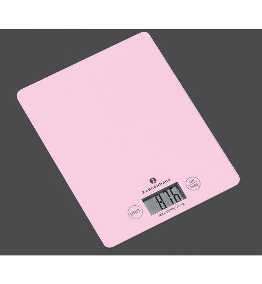 ZASSENHAUS Cyfrowa waga kuchenna BALANCE PASTELL różowa / FreeForm