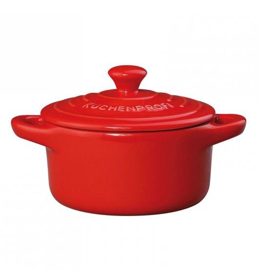 KUCHENPROFI Mini brytfanna ceramiczna z pokrywką PROVENCE 0,3 l, czerwona / FreeForm