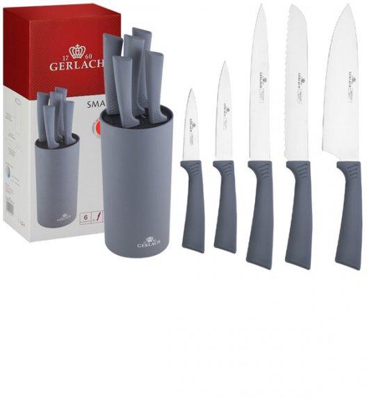 GERLACH SMART GREY Komplet 5 noży w bloku / antypoślizgowa rękojeść