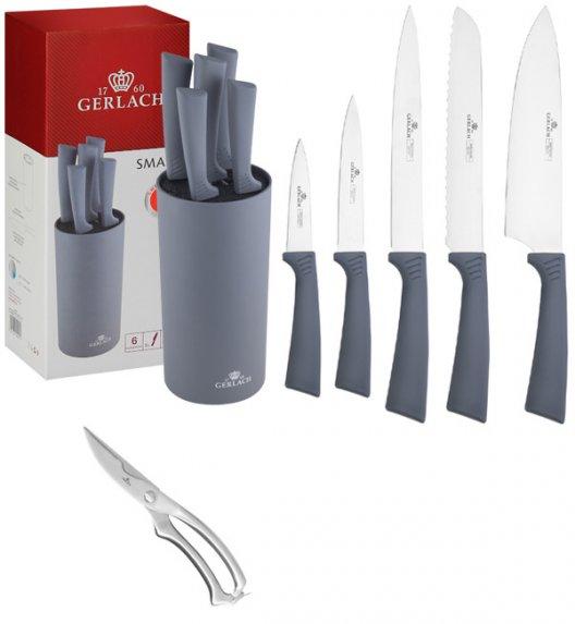 GERLACH SMART GREY Komplet 5 noży w bloku + nożyce do drobiu