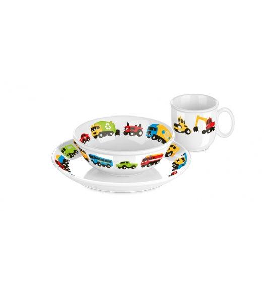 WYPRZEDAŻ! TESCOMA BAMBINI AUTKA Komplet obiadowy dla dzieci / 3 elementy / porcelana