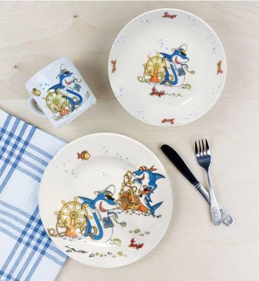LUBIANA REKINY 5032 Komplet obiadowy dla dzieci 3 el / porcelana