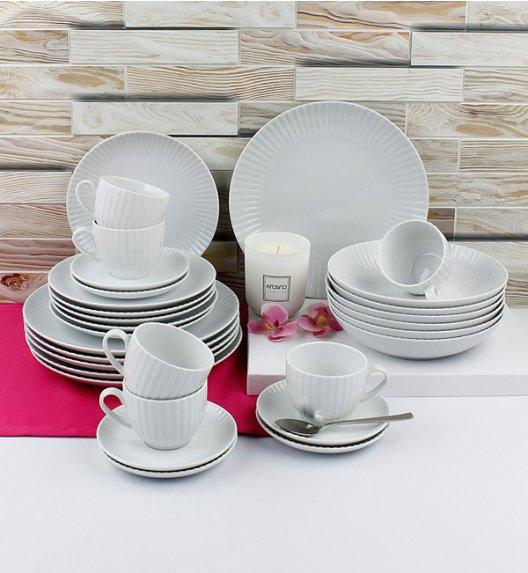 LUBIANA DAISY Serwis obiadowo - kawowy 6 osób / 30 elementów / Porcelana
