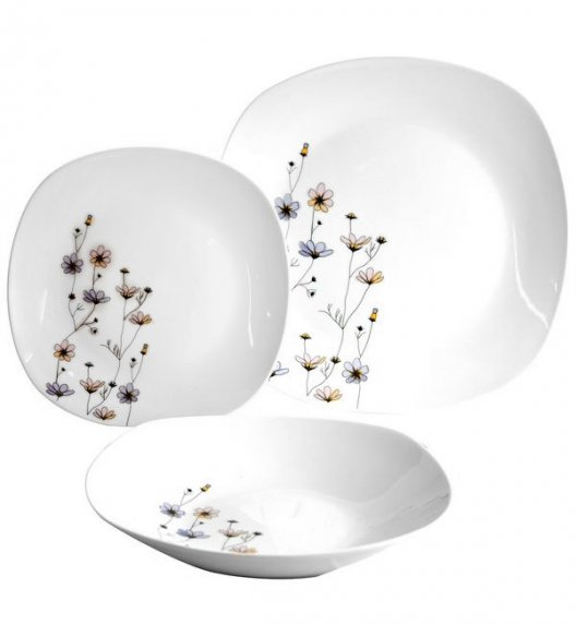 TADAR INVERNO FIORELLO Serwis obiadowy 18 elementów dla 6 osób / ceramika