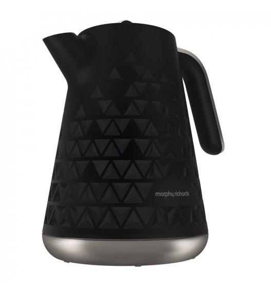 MORPHY RICHARDS PRISM JUG Czajnik elektryczny czarny 1,5 L / Tworzywo sztuczne / BPA FREE / 108251