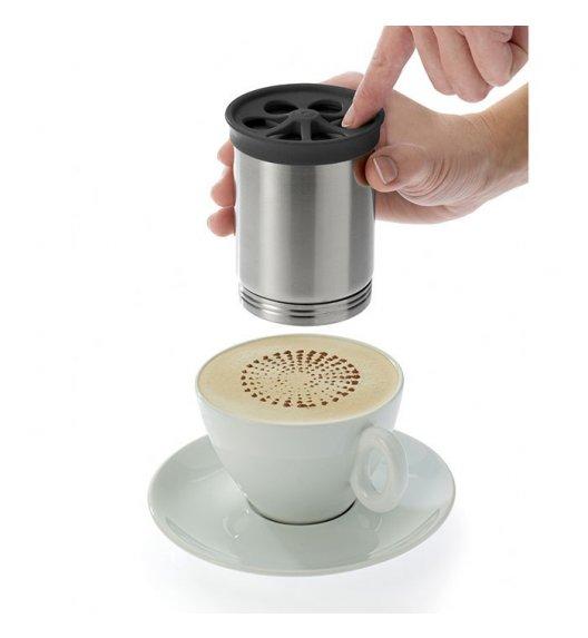 WESTMARK Stalowy dekorator do kawy z 4 tarczami / Stal nierdzewna