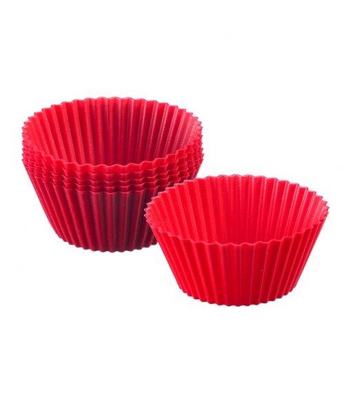 WESTMARK Silikonowe foremki do babeczek ø 7 cm, 6 szt. / czerwone