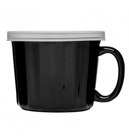 SAGAFORM CAFE Kubek na zupę z pokrywką 0,5 l KITCHEN czarny / FreeForm