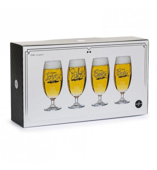 SAGAFORM CLUB Zestaw 4 kieliszków do piwa 0,42 l / FreeForm