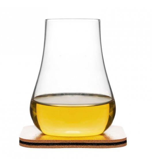 SAGAFORM CLUB 2 szklanki do whisky ze skórzanymi podkładkami 150 ml