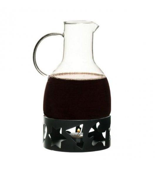 SAGAFORM Dzbanek do grzanego wina z podgrzewaczem 1,3 l czarny CHRISTMAS / FreeForm