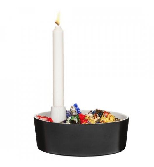 SAGAFORM Misa do serwowania ze świcznikiem ⌀ 20 cm CHRISTMAS czarna / FreeForm