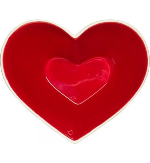 SAGAFORM Czerwona miska do serwowania, serce CHRISTMAS / FreeForm