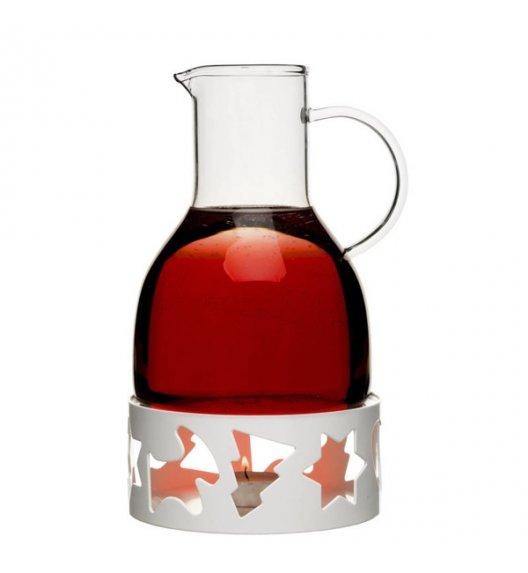 SAGAFORM Dzbanek do grzanego wina z podgrzewaczem 1,3 l biały CHRISTMAS / FreeForm