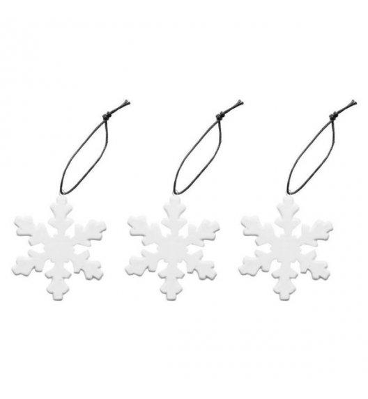SAGAFORM Porcelanowe ozdoby choinkowe ⌀ 7 cm CHRISTMAS śnieżynki 3 szt / FreeForm