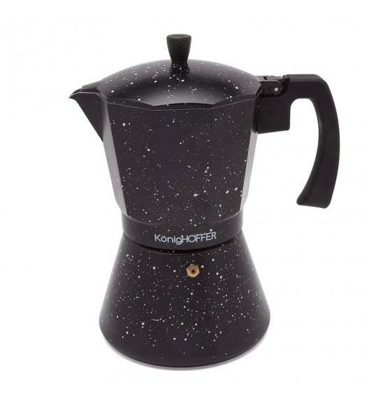 KÖNIGHOFFER BLACK GRANITE MARBLE Kawiarka do espresso 700 ml / Aluminium