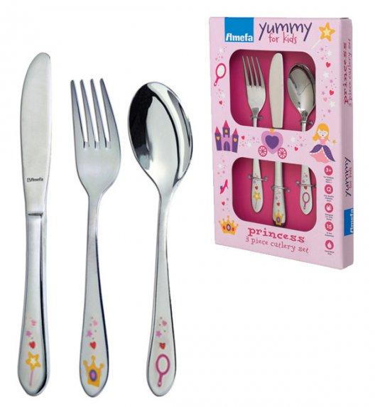 AMEFA YUMMY Sztućce UE dla dzieci 3 el pudełko GIRLS / połysk