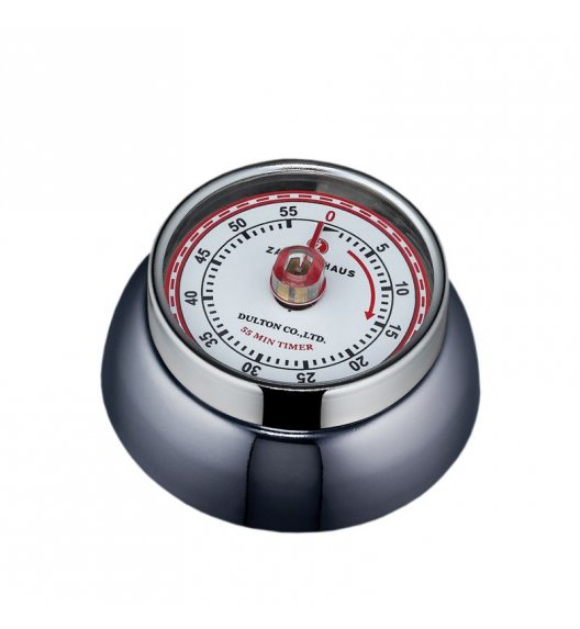 ZASSENHAUS SPEED Timer mechaniczny ⌀ 7 cm ciemny grafit / FreeForm