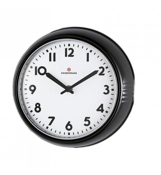 ZASSENHAUS Zegar ścienny ⌀ 24×6 cm RETRO czarny / FreeForm
