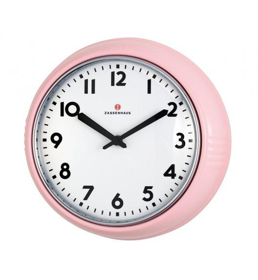 ZASSENHAUS Zegar ścienny ⌀ 24×6 cm RETRO PASTELL różowy / FreeForm