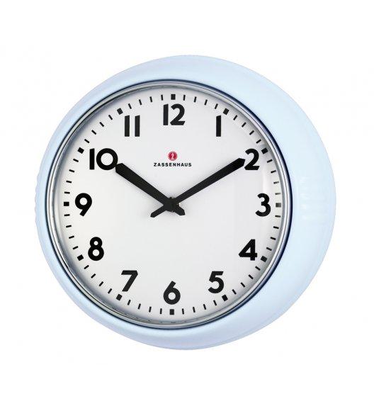 ZASSENHAUS Zegar ścienny ⌀ 24×6 cm RETRO PASTELL niebieski / FreeForm