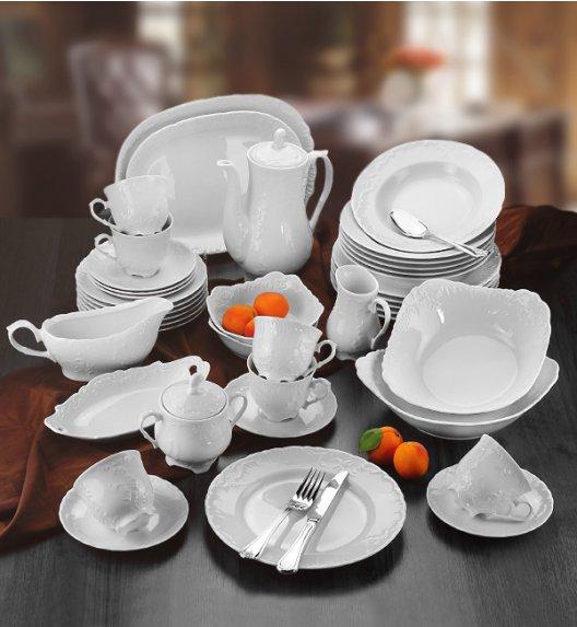 ĆMIELÓW ROCOCO Serwis obiadowo-kawowy 83 el / 12 osób / porcelana