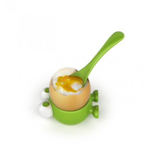 MSC Kieliszek i łyżeczka do jajek  ⌀ 4,5 cm EGG WATCHER zielony / FreeForm