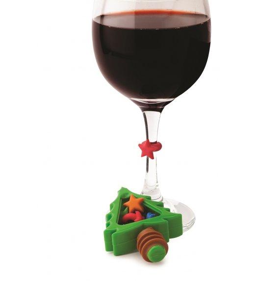 MSC Korek do wina i 6 znaczników na kieliszki CHRISTMAS / FreeForm