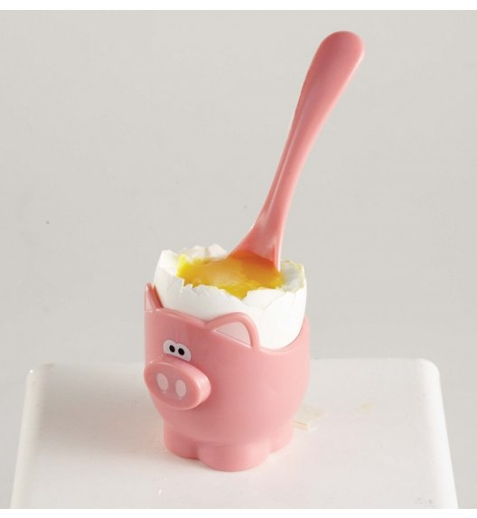 MSC Kieliszki na jajka z łyżeczkami 5 cm OINK OINK świnki / FreeForm