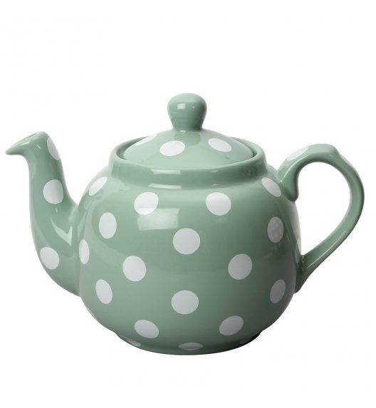 LONDON POTTERY Dzbanek do herbaty z filtrem 1,2 L FARMHOUSE FILTER zielony w kropki / FreeForm