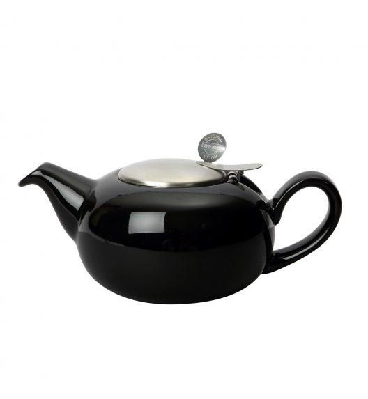 LONDON POTTERY Dzbanek do herbaty z filtrem 0,5 L PEBBLE czarny połysk / FreeForm