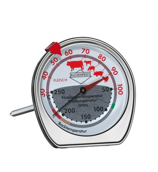 KUCHENPROFI Termometr do piekarnika i pieczeni ⌀ 7,5 cm / stal nierdzewna / FreeForm
