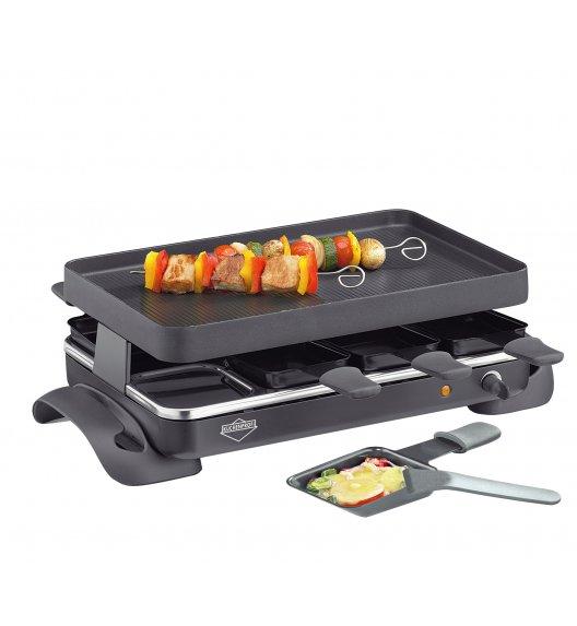 KUCHENPROFI Raclette / grill stołowy dla 8 osób GRANDE / stal nierdzewna / FreeForm